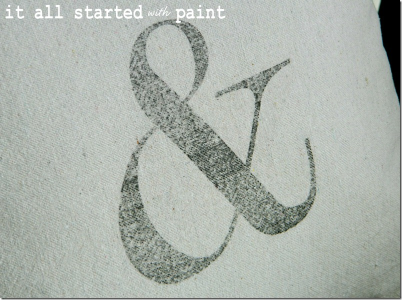 ampersand-pillow-made-of-drop-cloth