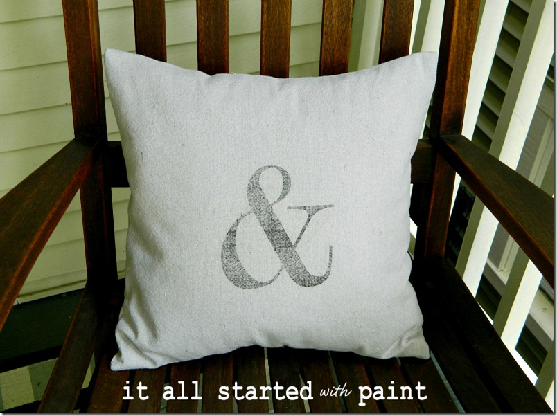 ampersand-pillow
