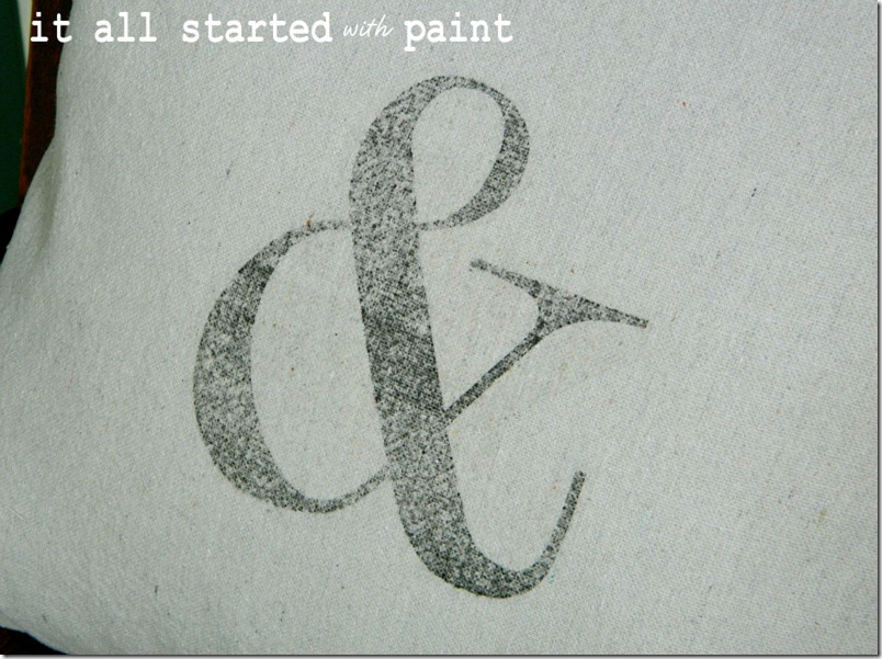 ampersand-transfer-on-pillow